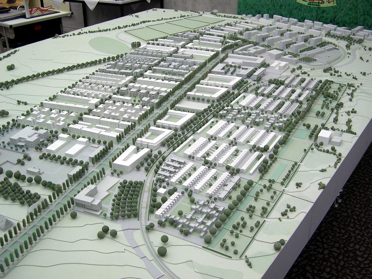 Präsentationsmodell Scharnhauser Park M 1:500