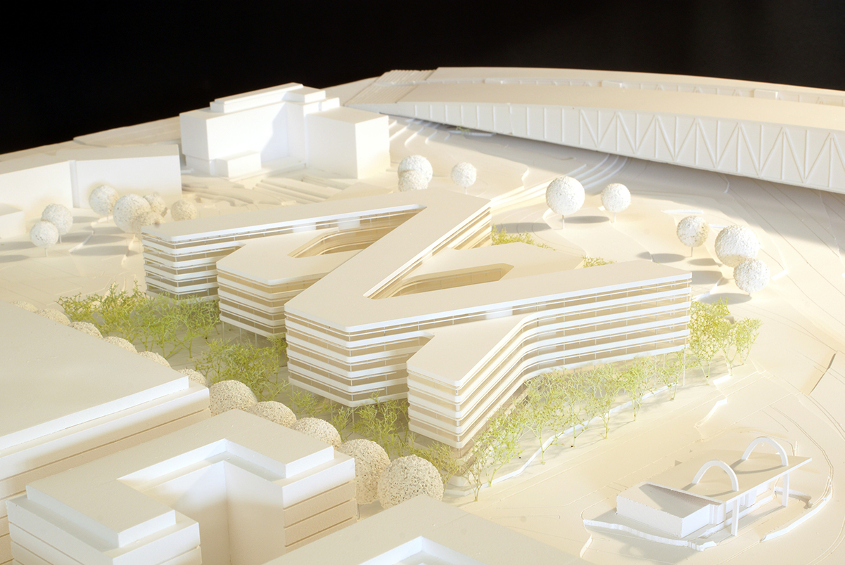 Architekturwettbewerb M 1:500 Auer Weber