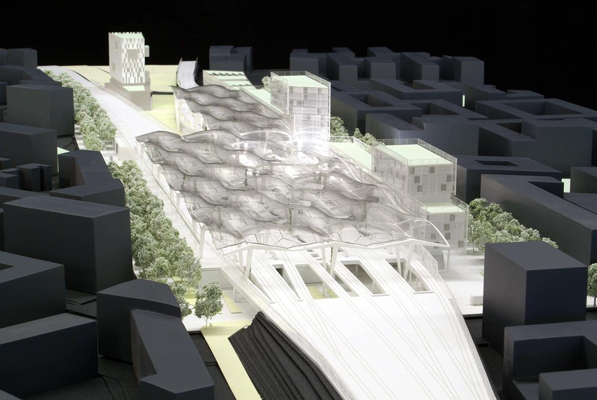 Architekturwettbewerb M 1:500, Jan Knippers Ingenieure
