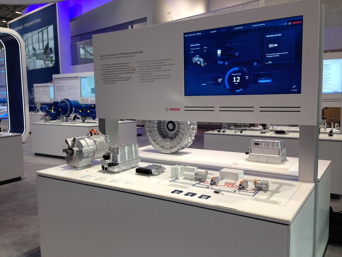 Interaktives Messemodell, Bosch Rexroth