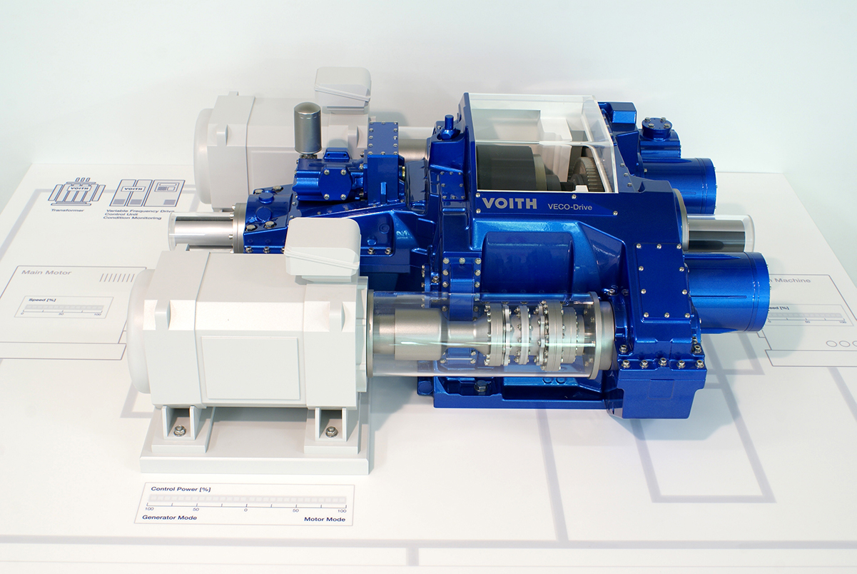 Interaktives Messemodell Veco-Drive, Voith