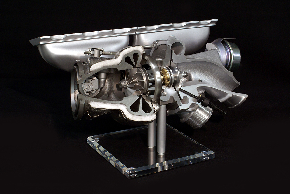 Schnittmodell Turbolader, BMTS