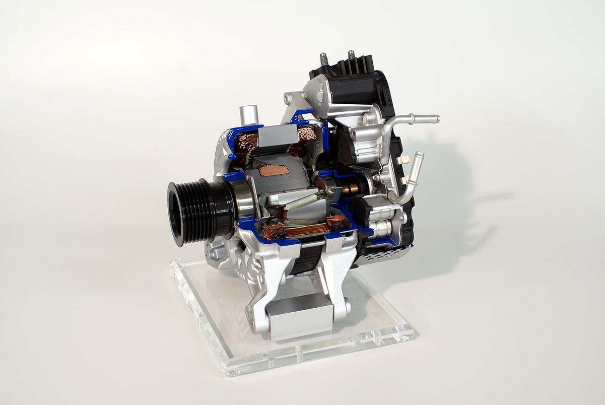 Schnittmodell Generator, SEG Automotive